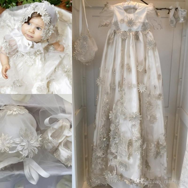 3252c5ad5 2019 New Arrival Christening Gowns For Baby Girls Beads Appliqued A ...