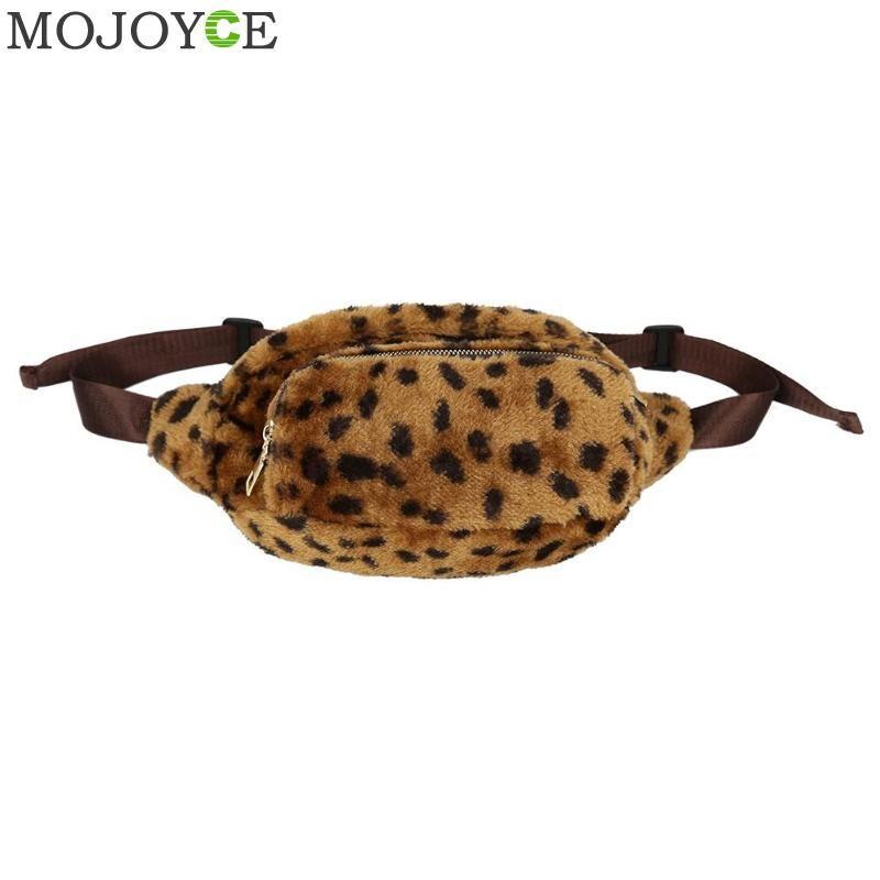 ab4262ca0901 Fashion Leopard Fleece Waist Bag Lady Casual Chest Shoulder Handbag Travel  Leisure Fanny Bags Winter Women Waist Belt Bags Bolso Handbag Satchel From  ...