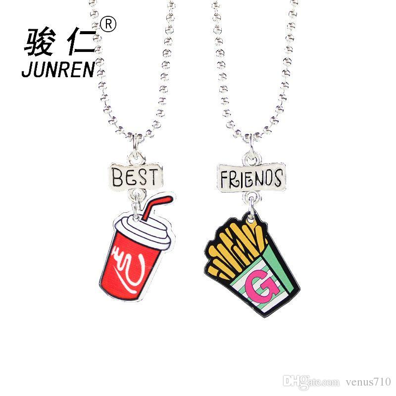 1bc83e7e59 Wholesale Cute Fries Coke Pendant Best Friends Children Necklaces Fashion  Jewelry Boys And Girls Birthday Gifts Pendants Necklaces Gold Pendant  Necklaces ...
