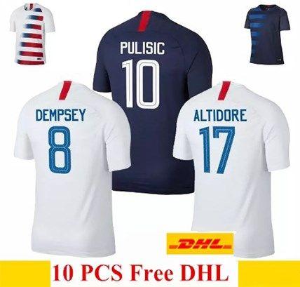 b90424b35 Thailand Quality 2018 2019 USA PULISIC Soccer Jersey 18 19 DEMPSEY YEDLIN BRADLEY  ALTIDORE WOOD America Football Jerseys United States Shirt UK 2019 From ...