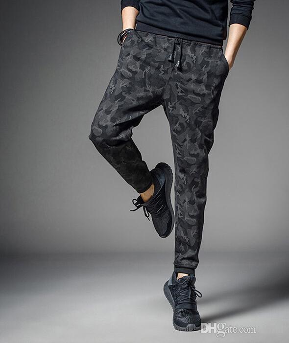 Mens camouflage crayon pantalon décontracté slim fit pantalon pantalon de sport pantalon de survêtement jogger vêtements pour hommes