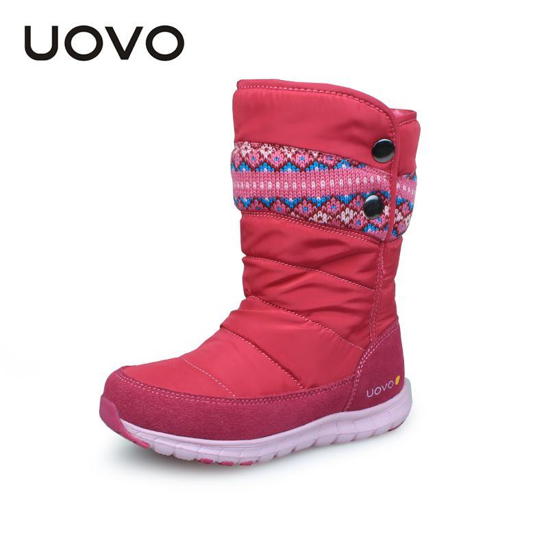 ae83b8479 Compre UOVO 2018 Botas De Invierno Para Niñas Marca Moda Niños Calzado Botas  De Goma Para Niños Niñas Botas De Nieve Princesa Tamaño 27   37   Y18110304  A ...