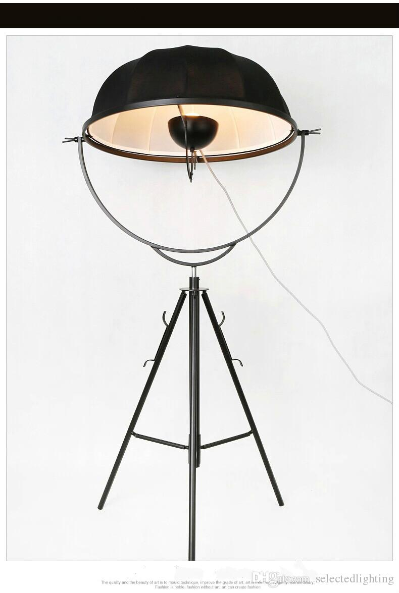 Modern Zemin Lambaları Toprak Uydu Fotoğrafçılığı Zemin Işık Fortuny Süsler tarafından E27 Kumaş Gölge Ayakta Lamba Oturma Odası Ayarlamak