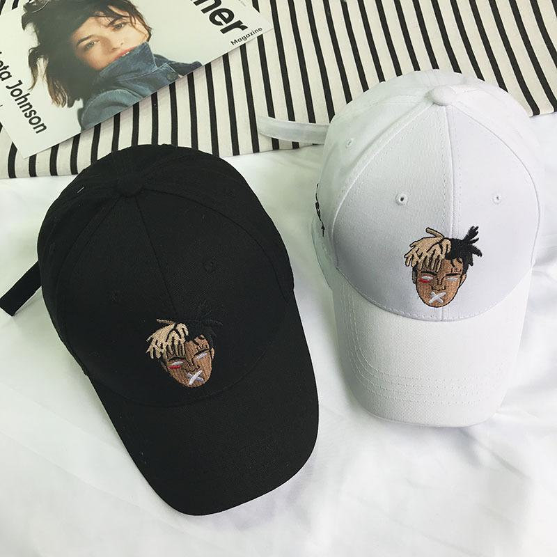 3732d342 New Fashion Adult Cartoon Xxxtentacion Embroidery Baseball Cap Indian Head  Portrait Casual Dad Hat For Men Women Trucker Hat Caps Online Hats And Caps  From ...