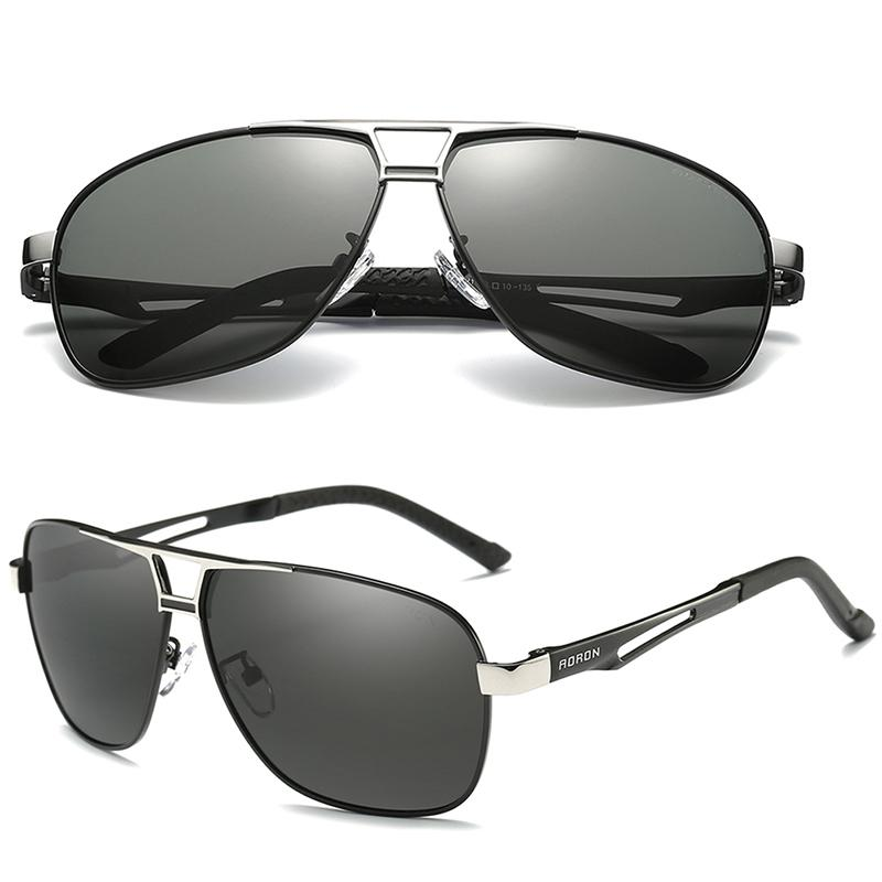 6f5bd4dc5 Compre Aoron Polaroid Óculos Polarizados Óculos De Sol Dos Homens Para A Mulher  Homem Hd Óculos De Proteção Design De Luxo Óculos De Metal Do Vintage Oculos  ...