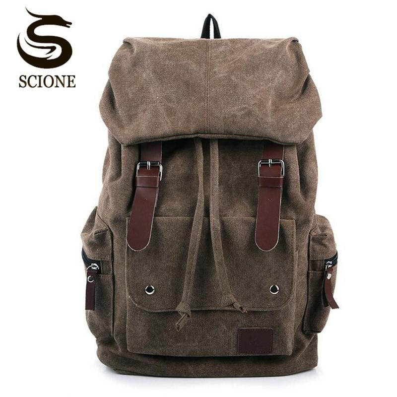 Luggage & Bags Brand New Casual Waterproof Backpack Student Schoolbag Man Outdoors Vintage Knapsack Travel Computer Package Business Backpack High Quality Materials