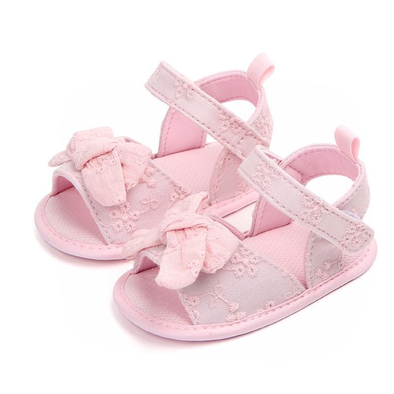 Acheter Princesse Chaussures Pour Filles Mignon Noeud Papillon Bébé Filles  Chaussures D été Coton Nouveau dbae73f90016