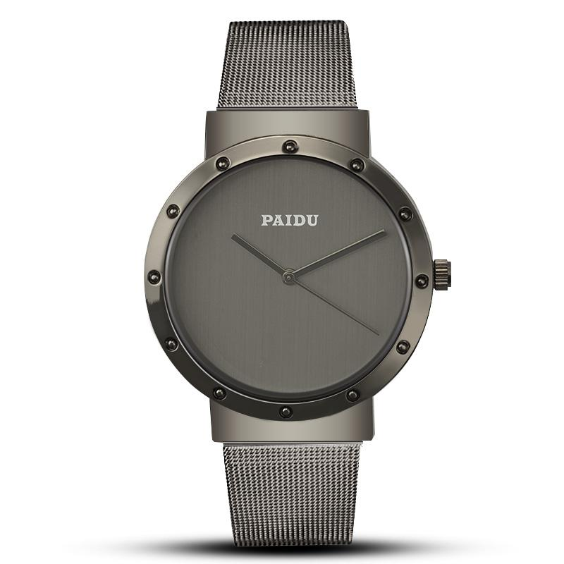 Compre 2018 Reloj Para Hombre PAIDU Diseñador De Lujo Reloj De Cuarzo Alta  Calidad Hombre De Malla De Acero Inoxidable Relogio Masculino Erkek Kol  Saati A ... 38e7ee7bceb9