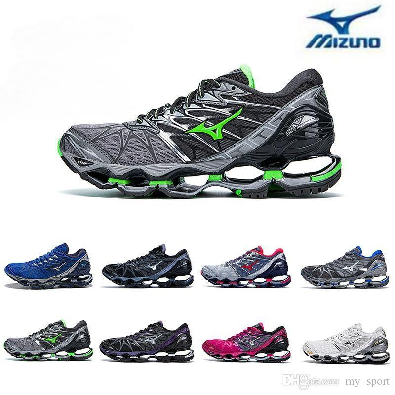 2018 New Mizuno Wave Prophecy 7 Running Shoe Buffer Fashion Mens Womens  Originals Top Quality Sports Sneakers Grayish Violet Size 36 45 Shoes On  Sale Ladies ... cc870087b1