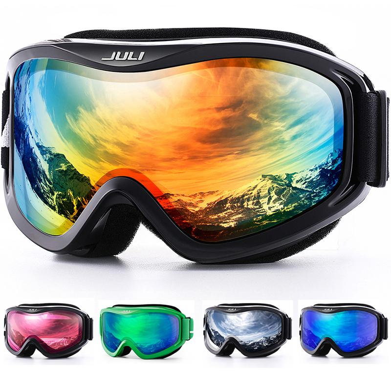 e5550e7eea Compre Gafas De Esquí, Deportes De Nieve Gafas De Snowboard Sobre Gafas Con  Protección UV Antivaho Lentes Dobles Para Hombres Mujeres Juventud Motos De  ...