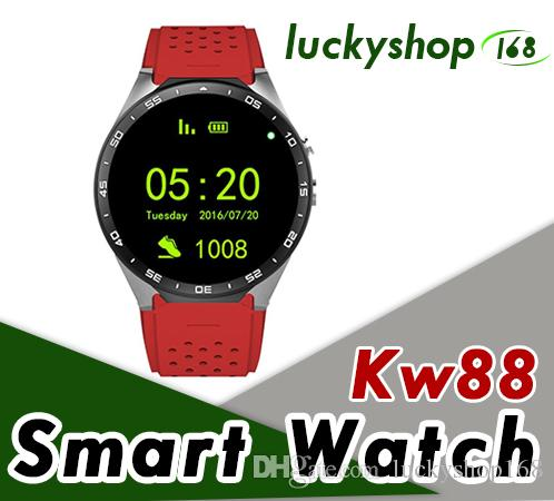 5899228f5 KW88 3G Smart Watch Android 5.1 IOS Watchs Quad Core Support 2.0MP Camera  Bluetooth Smartwatch SIM Card WiFi GPS Heart Rate Monitor The Best  Smartwatch ...