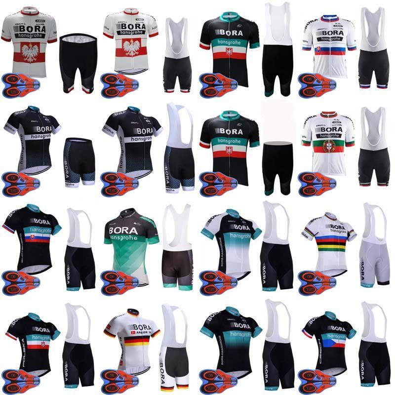 1b17d4b58 Satın Al BORA 2018 Erkek Bisiklet Jersey Setleri Pro Team MTB Bisiklet  Pedleri Yarış Bisiklet Giyim Nefes Bisiklet Formaları Ropa Ciclismo D1754