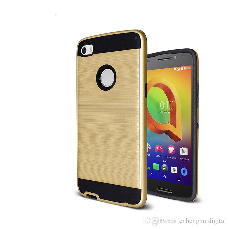Armor Hybrid Brushed Case For LG-Aristo 2/X210 Alcatel Verso/5044R  Coolpad-C3701A /AREVVL Plus TPU PC Luxury Brushed cover