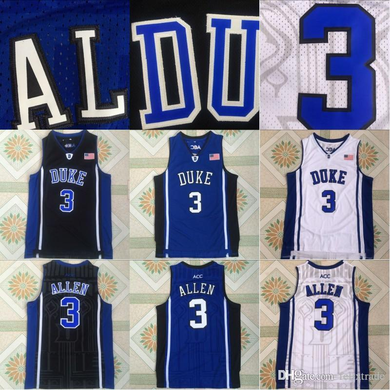 1511bc5bb ... jersey; 3 grayson allen ncaa blue devils mens college basketball jerseys  all stiched white blue black in