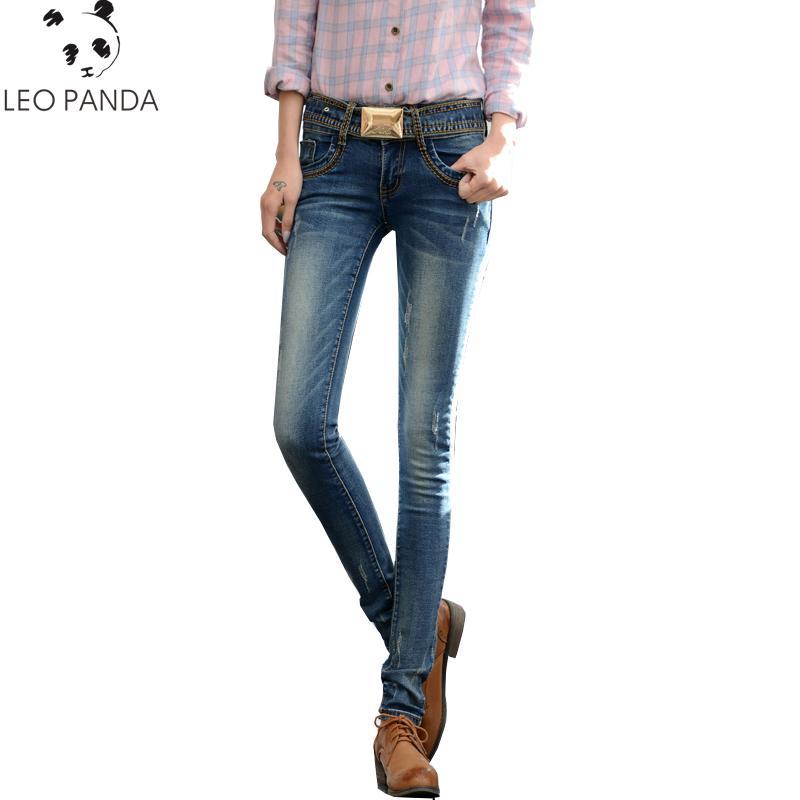 bd5ba54691 Compre Nuevos Pantalones Vaqueros Delgados Pantalones Femeninos Primavera Verano  Apretado Más El Tamaño Cintura Baja Retro Multi Estilo Pantalones De Lápiz  ...