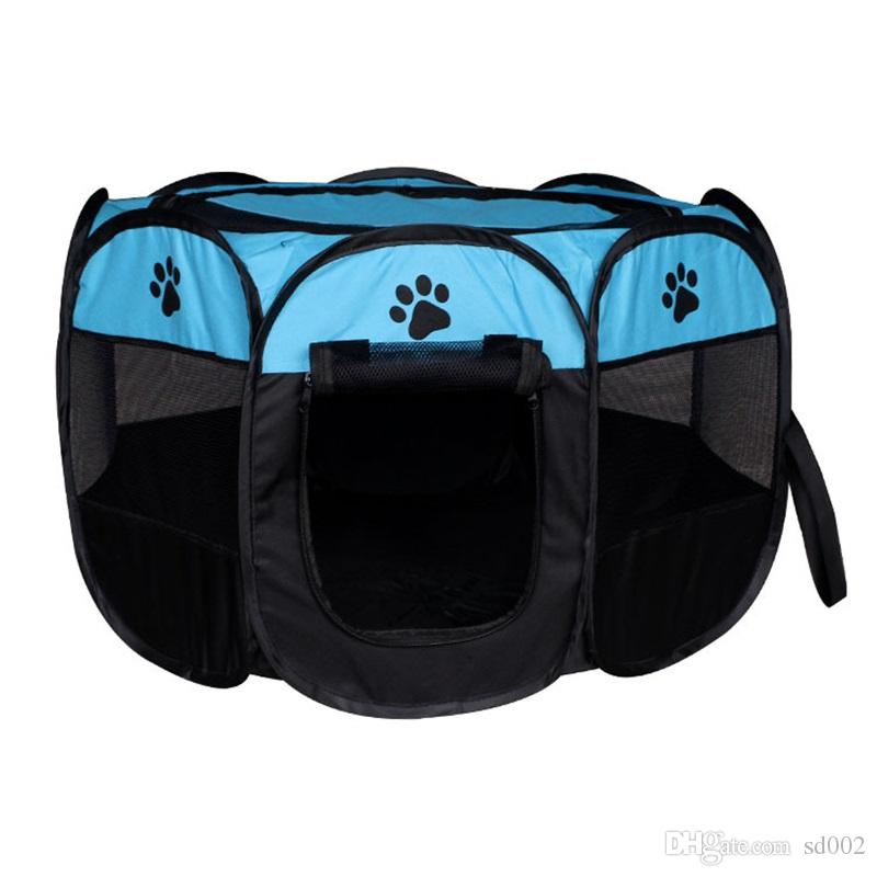 Waterproof Puppy House Octagonal Pet Fence Portable Folding Oxford Cloth Dog Cat Tent Multi Color 65hz2 Z R