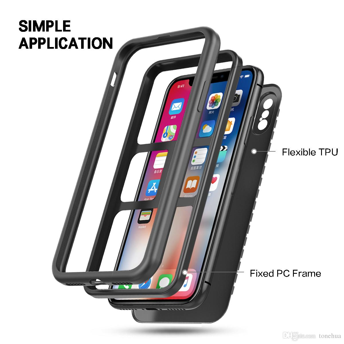Phone Case Screen Protection Scratch Resistant Anti-Fingerprint Greaseproof Phone Cover Flexible TPU Fixed PC Frame Back Cover Phone Shell
