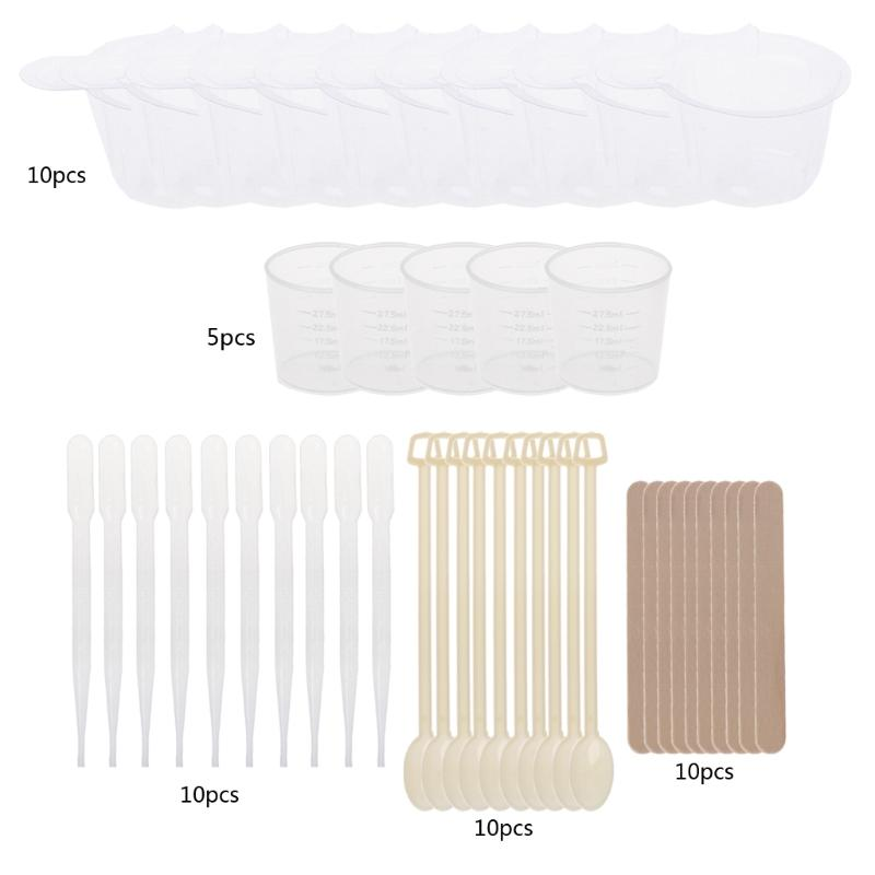 JAVRICK DIY Epoxy Resin Molds Jewelry Making Tool Kit With Stirrers  Droppers Spoons Cups