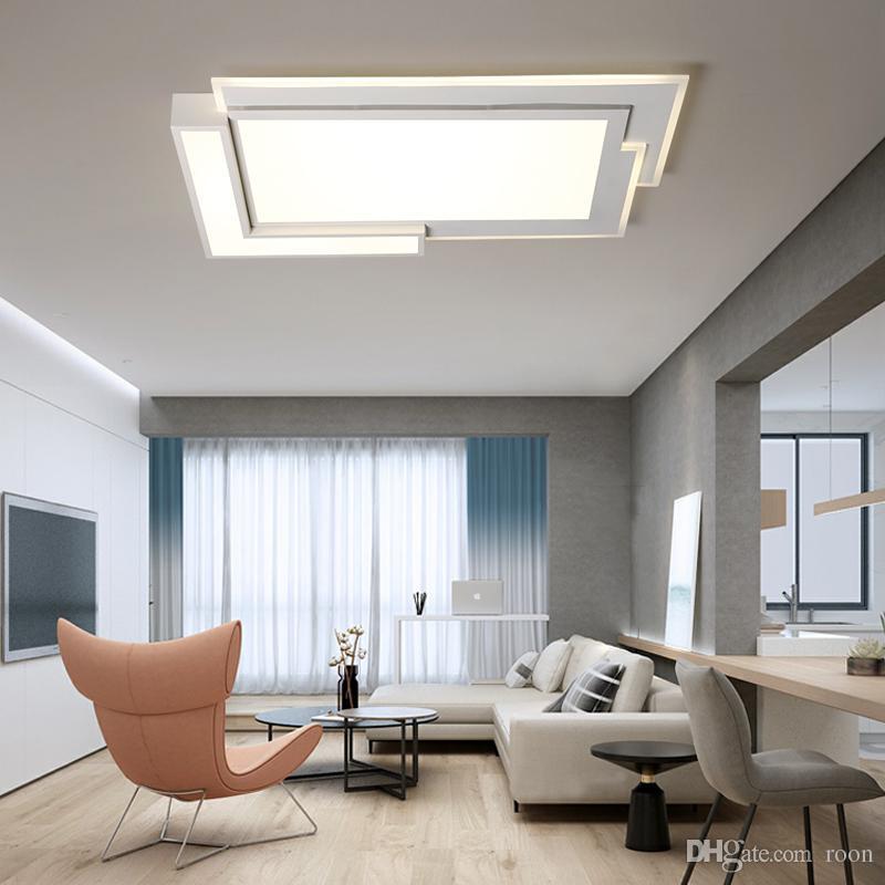 Großhandel Acryl Moderne Deckenleuchten Für Wohnzimmer Schlafzimmer Weiß  Einfache Plafon LED Deckenleuchte Hause Leuchten AC85 260V RNB52 Von Roon,  ...