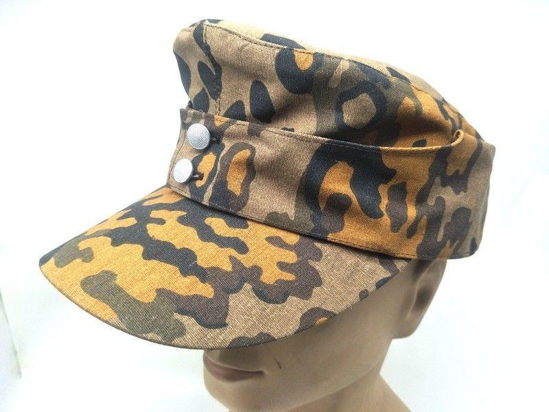 eb8f6e6e5af 2019 WWII GERMAN ARMY EM SUMMER PANZER M43 FIELD HAT FALL OAK CAMO CAP IN  SIZES World Store From Suipao