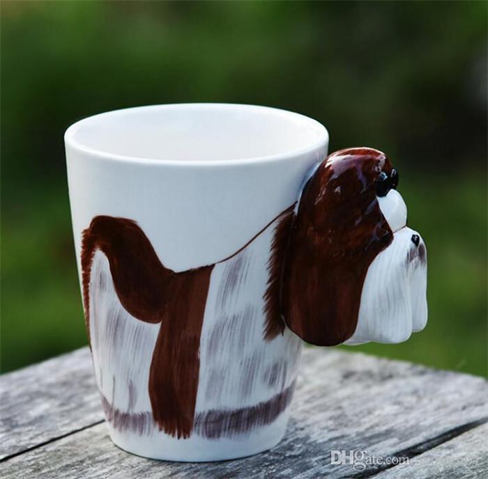 10 adet 20 tasarımlar 400 ml Seramik Bardak 3D Hayvan Seramik Kupa Yaratıcı Karikatür Zürafa Şekil Kahve Fincanı Isı Dayanıklı G206