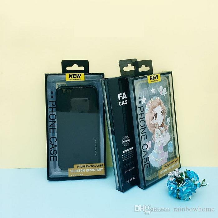 Plástico pvc pacote pacote de varejo caixa de blister interior titular para pu couro phone case para iphone x 7 8 plus samsung galaxy s8 s9 além de