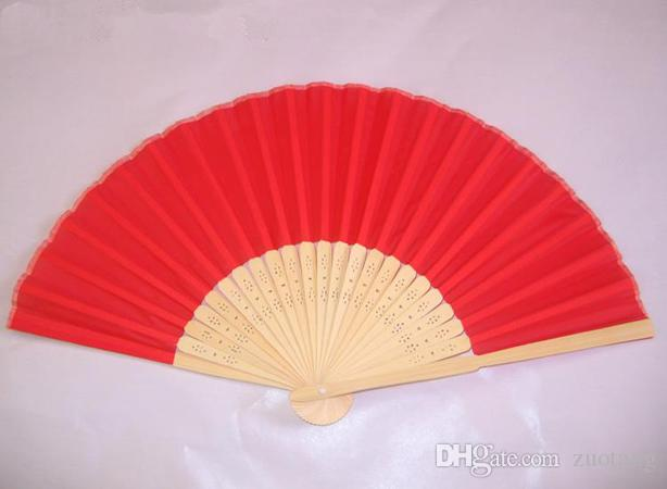 I fan piccola pianura piegante di seta bomboniera Fan di bambù programma fai da te a mano signore cinese Craft 6 pollici /