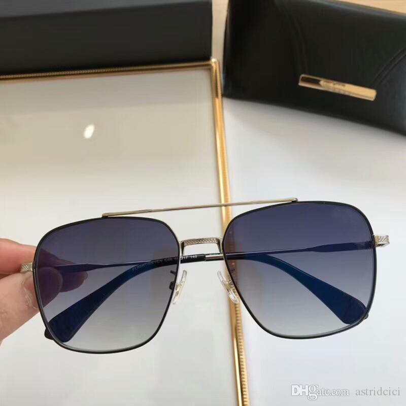 1aabd312b273e Óculos De Sol Dos Homens De Luxo De Alta Qualidade Quadrado Óculos De Sol  Masculino Proteção Uv Moda Óculos Ao Ar Livre Com Caso Moldura De Metal  Colorido ...