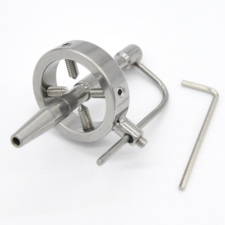 Stainless Steel Spike Ring With Hollow Penis Plug 4 Screws Bdsm Bondage Torture Play Metal Urethral Stick Cbt Sex Toys Xcxa098 Homemade Male Chastity Male