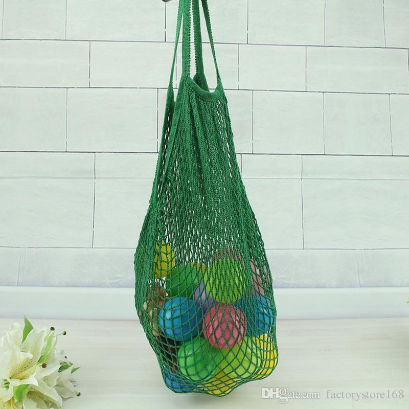 Hot Sale Reusable String Shopping Grocery Bag Shopper Tote Mesh Net Woven Cotton Bag Portable Shopping Bag