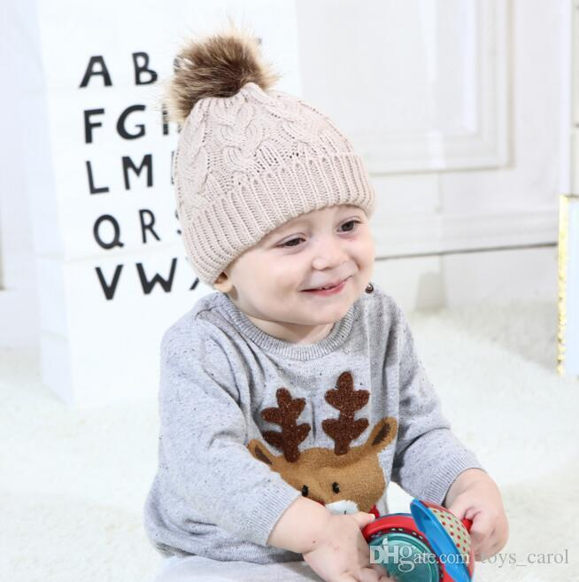 New Pattern Autumn Winter Baby Cap Cotton Large Hemp Flowers Hair Ball Cap  Wholesale Caps Hair Ball Baby Cap Online with  5.86 Piece on Toys carol s  Store ... 1162d6d2663