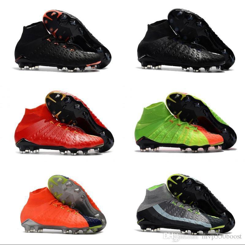 2021 Mens High Ankle FG Soccer Cleats Hypervenom Phantom ...