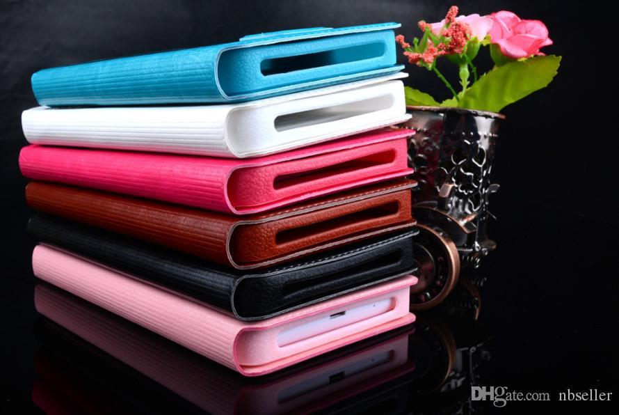 Universal Caso Janela Flip PU Carteira de Couro Caso COVER Puxe para baixo Para 4.0 4.8 5 5.5 6 polegadas para todo o telefone móvel