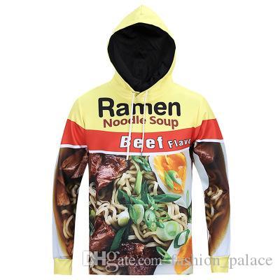 Noodle Soup  Funny 3D Print Men Hoodie Sweater Sweatshirt Jacket Pullover Top