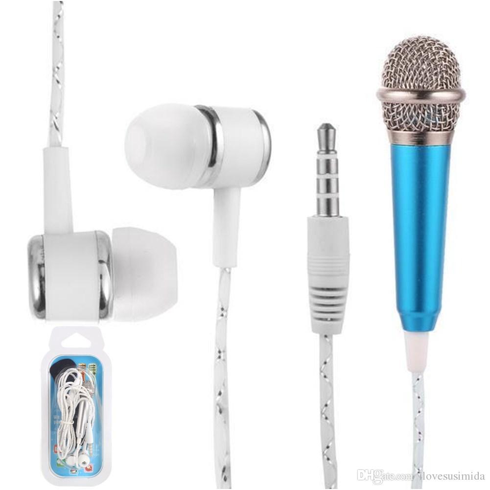 a2df2e67c50 Ver Ofertas De Celulares Mini Micrófono De 3.5 Mm Con Auriculares  Auriculares Cuffie Estéreo Portátil Para Cantar Karaoke PC IPad Smartphone  Con Paquete Al ...