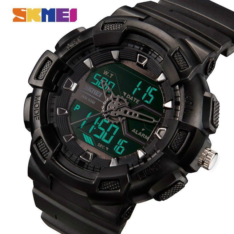 8bcb2fed3fd6 Compre Skmei Hombres Relojes Al Aire Libre Relojes De Pulsera De Cuarzo  Moda Multifunción Casual 50 M Impermeable Reloj Boy Relogio Masculino  Y1892111 A ...