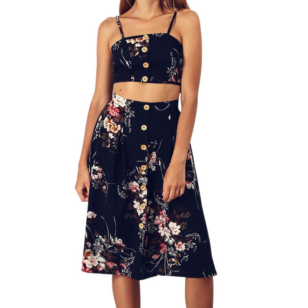 315c20b5143e Acquista Vendita All ingrosso Sexy Due Pezzi Mini Abito In Pelle Da Donna Casual  Stampato Manica Corta Top Crop Top E Mini Skirt Set Set Da Donna A  19.0 ...
