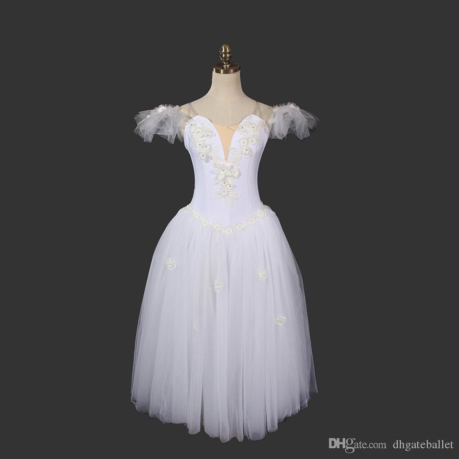 ae618c90561 Acheter La Sylphide Robe De Tutu Ballet Romantique Ballerine Robe Femmes  Blanc Fée Ballet Professionnel Tutu À Longes Ailes De  130.66 Du  Dhgateballet ...