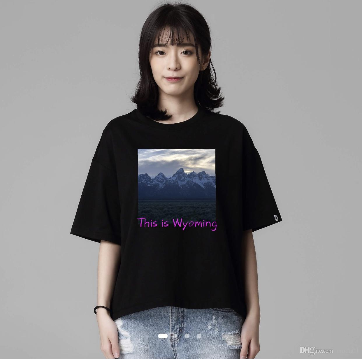 Kanye West Wyoming Printed Women Casual Half Sleeve T Shirts Female Hip Hop  Fashion Tees Political Tee Shirts Funny Political T Shirts From Cinda01 9b17e5066f