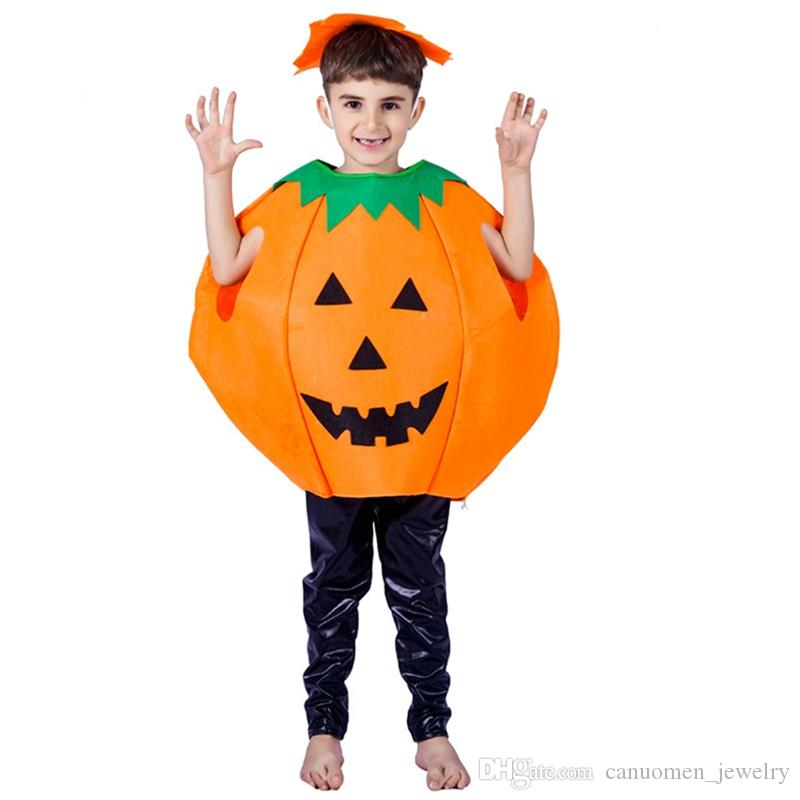 Costume di Halloween per bambini Costume di Halloween Costume di Halloween Mantello di zucca Costumi cosplay Non tessuto Loose Kids Show Suit Outfit