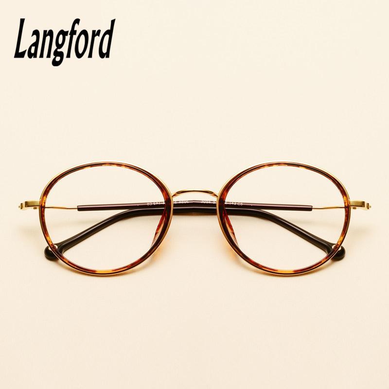 langford round glasses frame myopia eyeglasses vintage full spectacle  frames designs optical glasses woman man hipster black3054