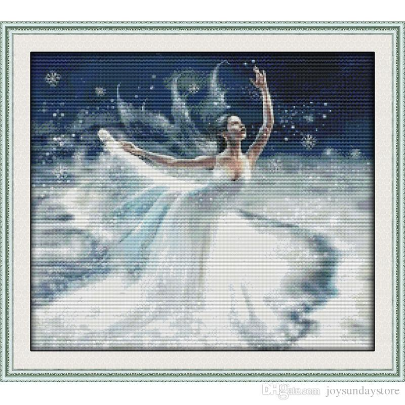 The Ballet on Ice Canvas DMC 11ct and 14ct Counted Chinese Cross Stitch Kits printed Cross-stitch for Embroidery Home Decor Needlework