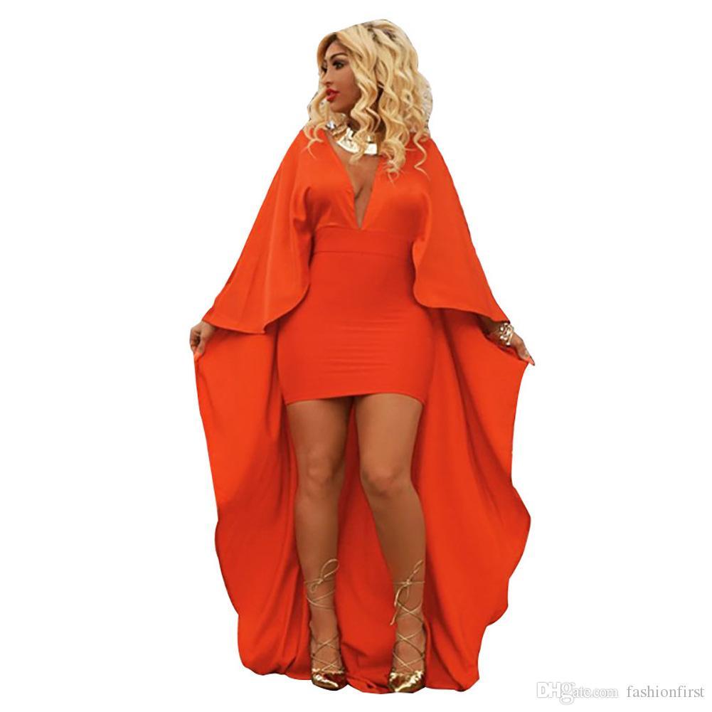 Großhandel Versandkostenfrei Mode Plus Größe 2xl Herbst Umhang Dress