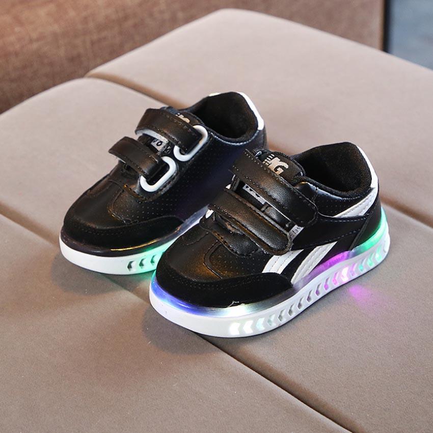 78bcaba800a New Children Spring Sport LED Flash Sneakers Kids Baby Infant Girls ...