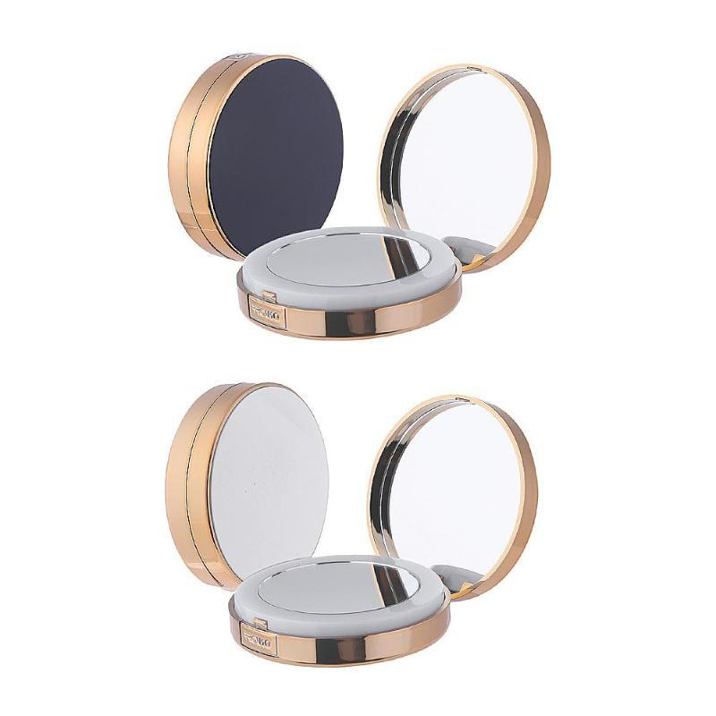 c8570d9d528 USB Rechargeable Folding Cosmetic Makeup Mirror 2 Sides 4 Times Magnifier LED  Ring Light White Black Color Makeup Tools Makeup Shop Standing Mirror From  ...