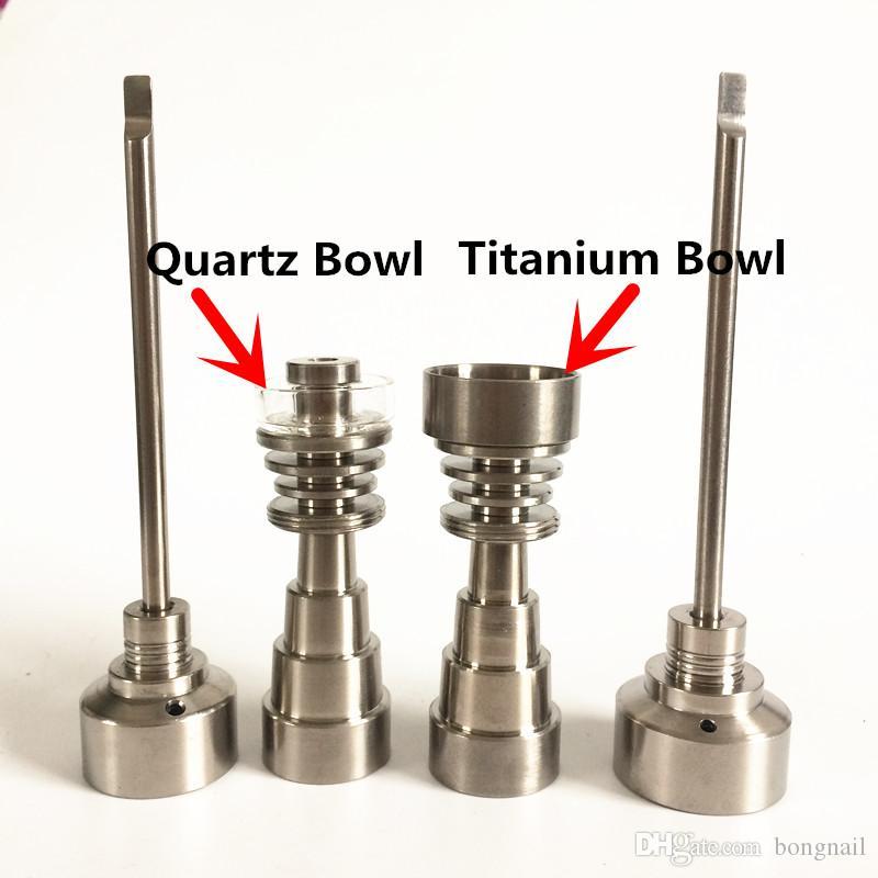 Universal Titanium Nagel 6 in 1 Heizung Flachspule 10mm Domeless Titan Nägel 10/14 / 18mm weiblich und männlich mit Titan Carb Cap New Set Stock