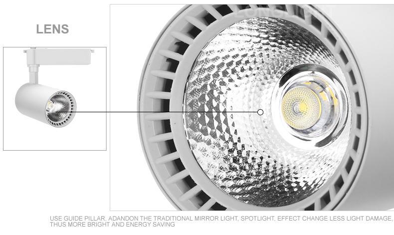 Track Light Led 3W Dimmable personalizar 2700K Spot Led Track Rail Lights Iluminación comercial Ropa 110V 220V