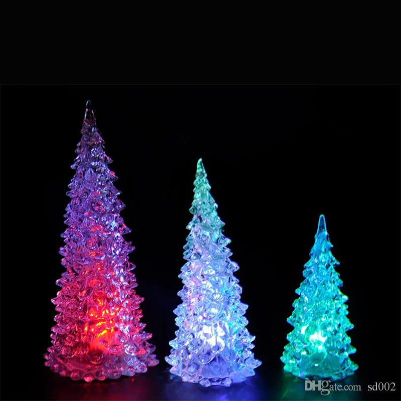 Modern Mini LED Lights Colorful Christmas Trees Shape Night Lamp Crystal  Plastic Acrylic Light Home Party Gift Decor 1 58zj B Novelty Gifts For Kids  Gag ... - Modern Mini LED Lights Colorful Christmas Trees Shape Night Lamp
