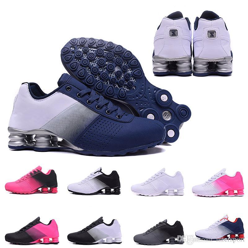buy popular b6b47 1db58 Acheter Nouveau Shox Deliver 809 Hommes Chaussures De Course À Air Frais  Drop Shipping En Gros Célèbre DELIVER OZ NZ Hommes Athlétique Baskets De  Sport ...