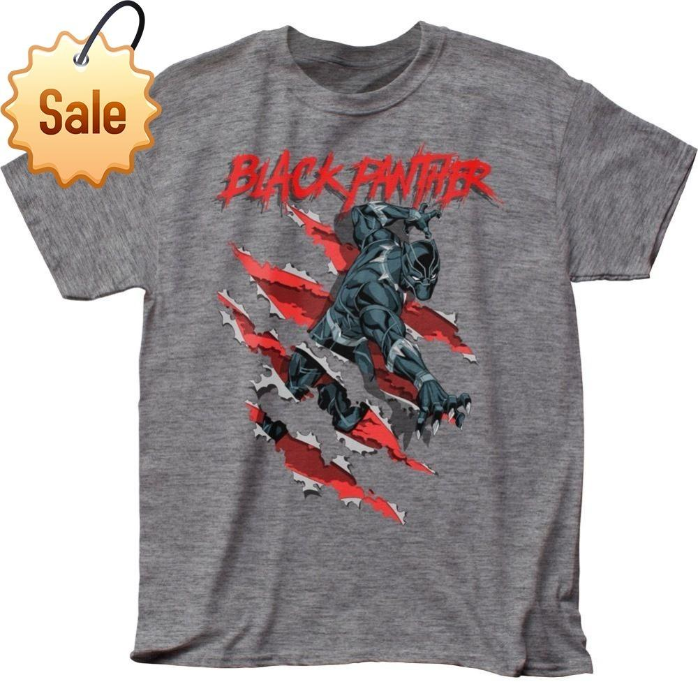 4e8046ffe Official Marvel Comics The Avengers Black Panther Clawing T-shirt ...